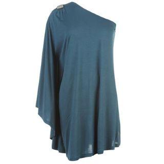 Asymetrické modré šaty, M