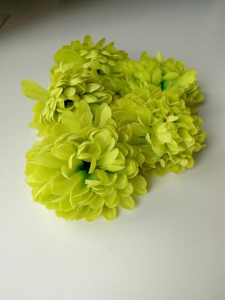 umělé květy, květiny zelené,