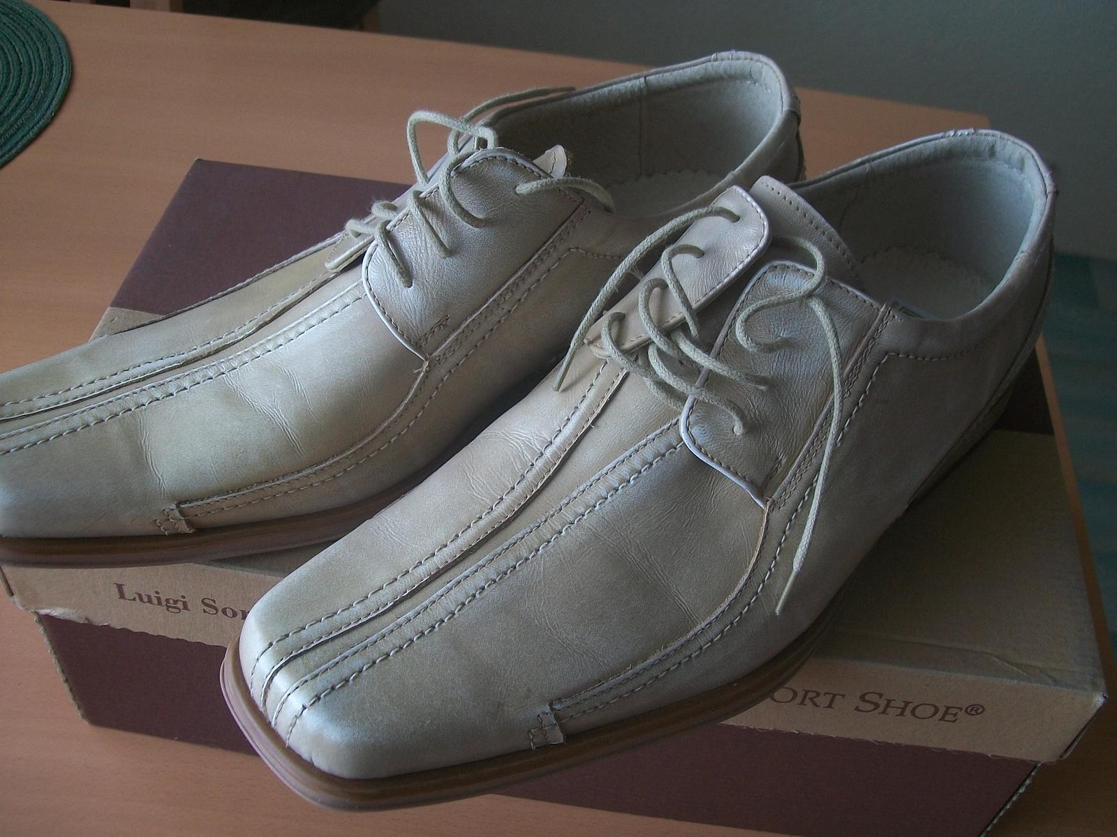 Kožená pánská svatební obuv vel.41 e177e2bfd8c