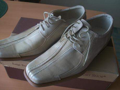Kožená pánská svatební obuv vel.41, 41