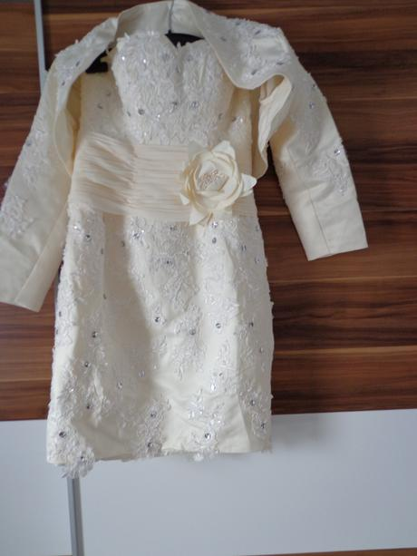 maslové krátke šaty s bolerkom, 38