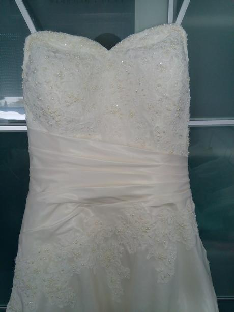 Jemne svadobne saty-ivory, 40
