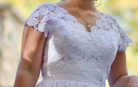 Svadobné šaty s čipkou, 40