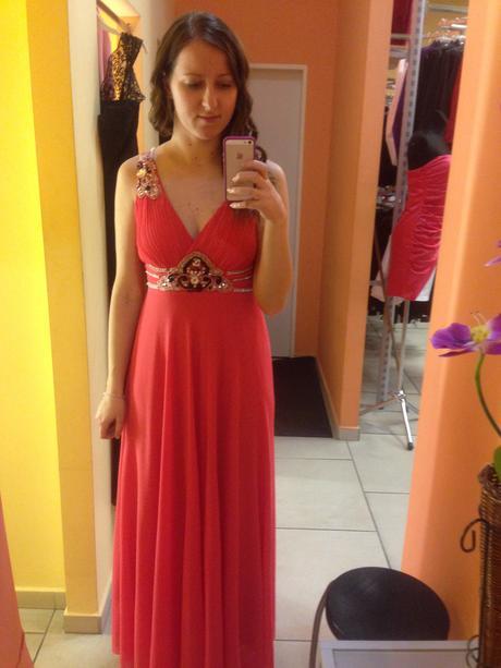 Lososovo Marhuľové šaty veľkosť 38-40, 38