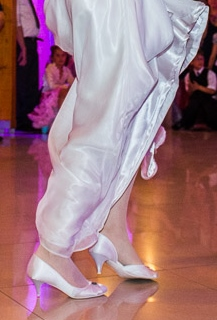 Saténové svadobné topánky do tanca, 38