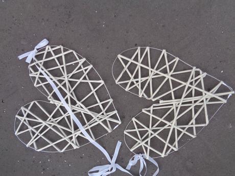 Srdce z papírových ruliček,