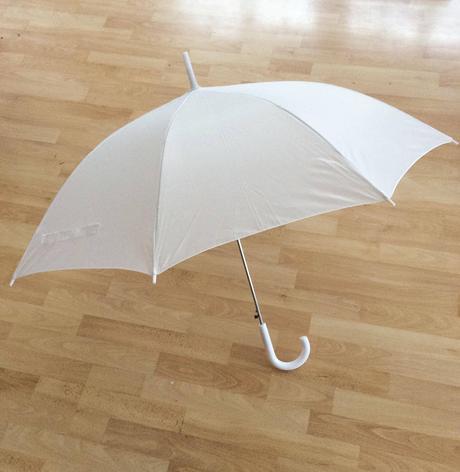Bílý deštník - 7ks,