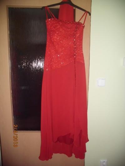 ľahučké červené šaty so štolou, 38