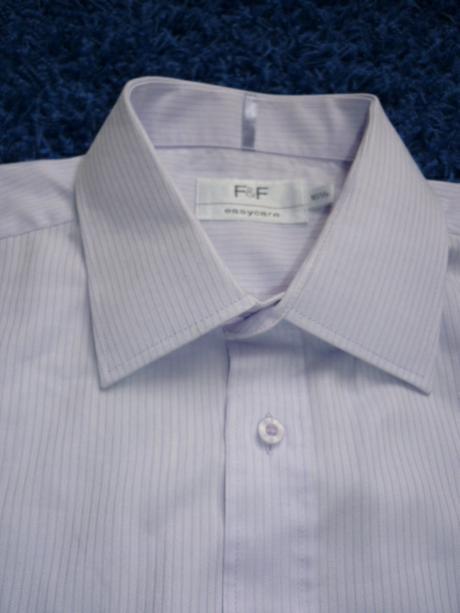 lila pruhovaná košile F F, L