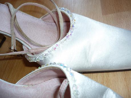 saténové svatební boty, 38