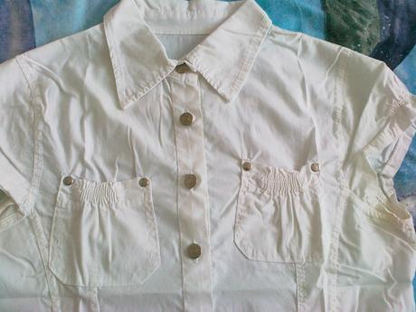 Bílá sportovně-elegantní košile, M