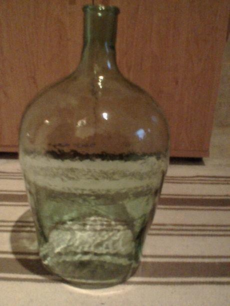 sklenená flaša,