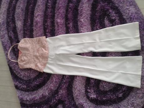 Biele spoločenské nohavice, 38