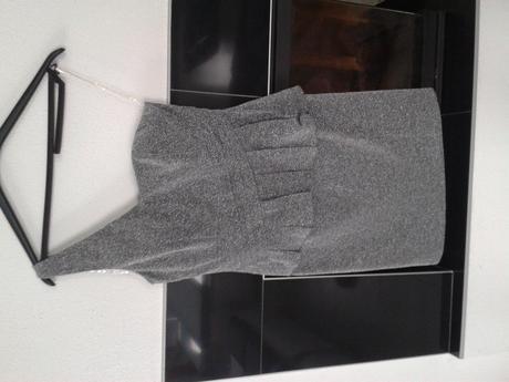 Zamatové (sivé) šaty, M