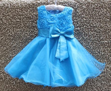 Družičkové šaty - modré, 104