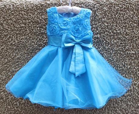 Družičkové šaty - modré, 122