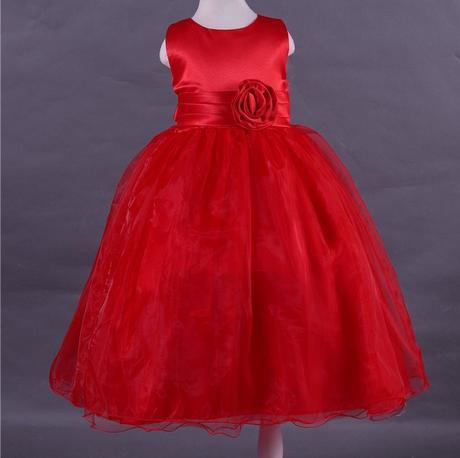 Družičkové šaty - podlahová délka - červené, 128
