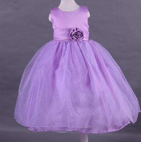 Družičkové šaty - podlahová délka - fialové, 128