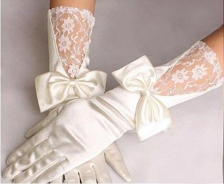 Luxusní svatební šaty + rukavice, 36