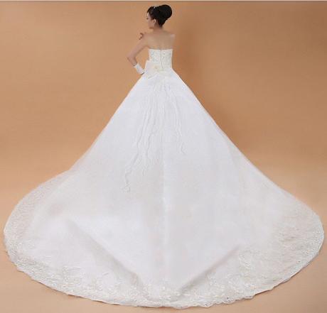 Luxusní svatební šaty + rukavice, 38