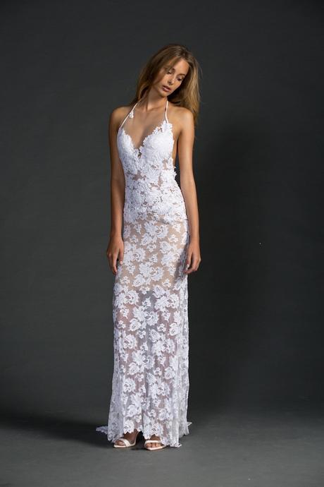 Plážové krajkové svatební šaty, 36