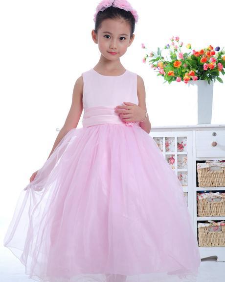 Princeznovské šaty, podlahová délka, světle růžové, 98