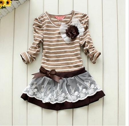 Proužkované šaty - 2 barvy, 128