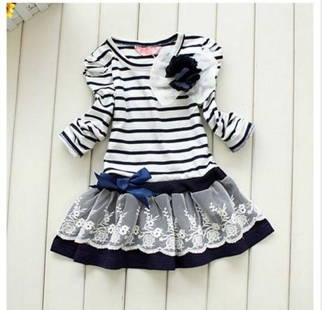 Proužkované šaty - 2 barvy, 98