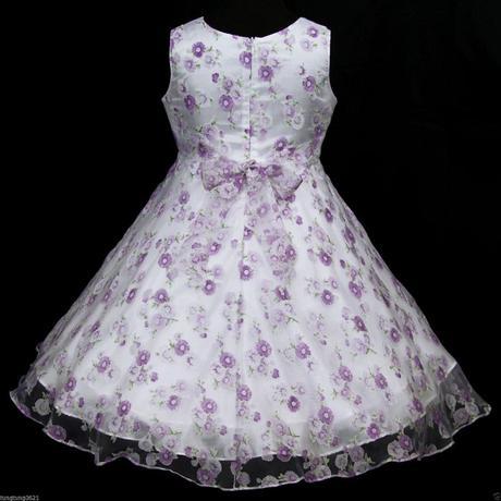 Slavnostní družičkové šaty - bílo fialkové, 104