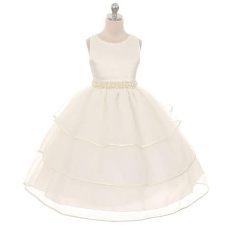 Slavnostní šaty - bílé - kol 2016, 140
