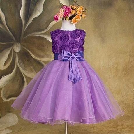 Slavnostní šaty - pro družičku - fialové, 86