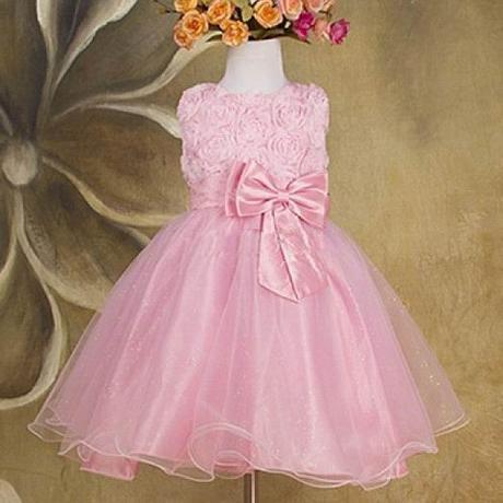 Slavnostní šaty - pro družičku - růžové, 98