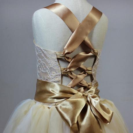 Stylové šaty pro družičku - vel 2-12 let, 104
