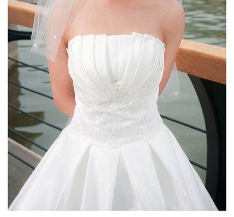 Svatební šaty - princeznovský styl - jednoduché, 42