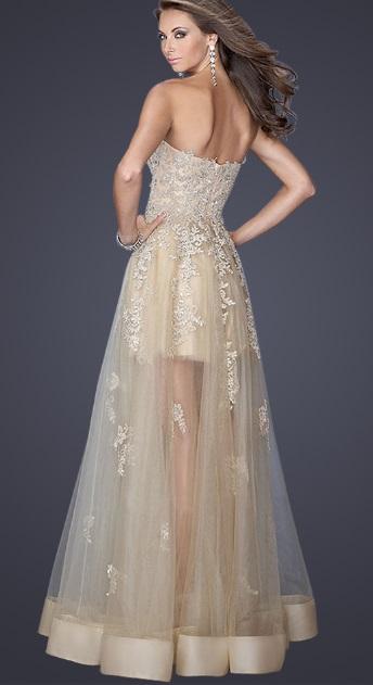 Svatební šaty - průsvitná sukně, 36