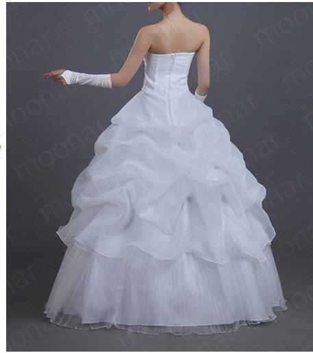 Svatební šaty - volánkové, 36