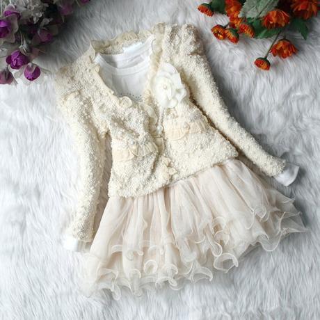 Sváteční set - šaty + kabátek, 116