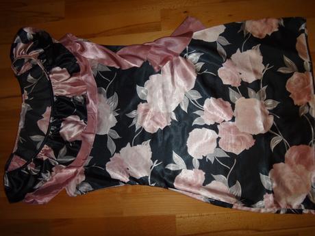 Saténové kvetové šaty, L