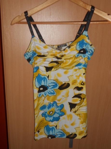 letné tričko žltej farby, S