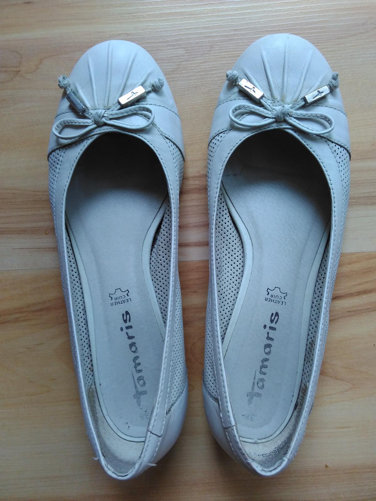 d84cccf8e4 Tamaris biele kozene balerinky 38