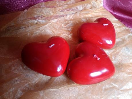Sviečky v tvare srdca,