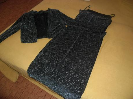 šaty trblietajúce, L