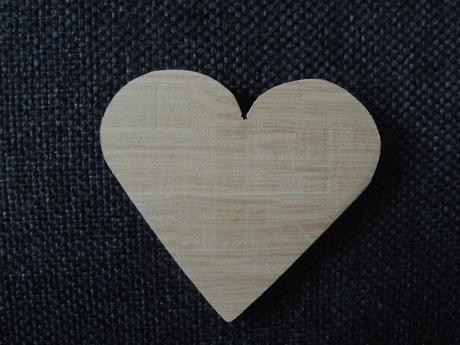 drevené srdiečka,