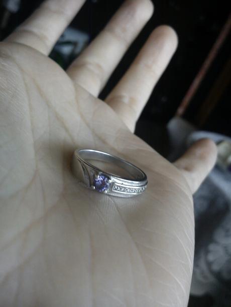 Afrodité - stříbrný prstýnek vel. 49.,