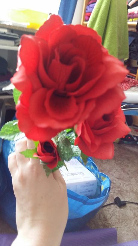 Umělé růže (3ks),