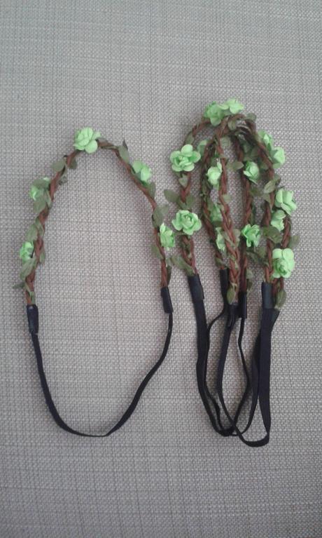 Zelena kvetinova celenka 4 ks,