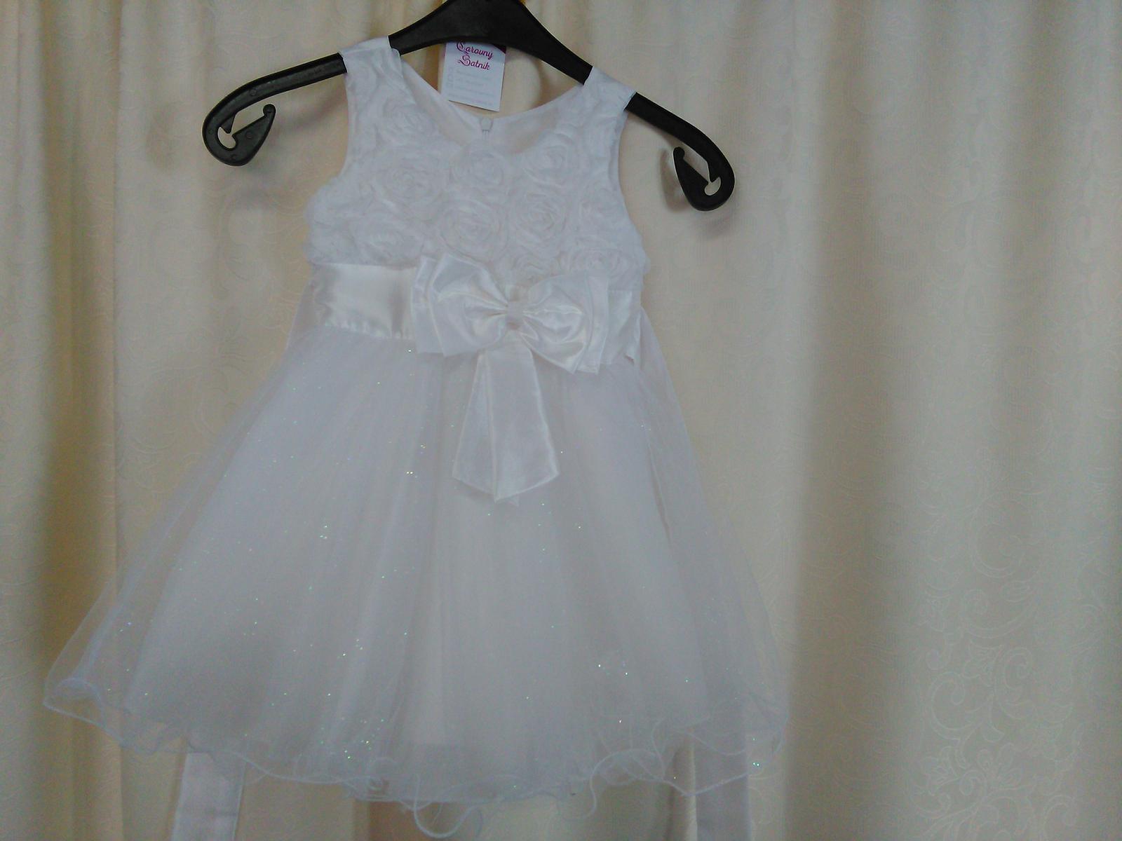 68139ba77f1f Šaty pre malú družičku biele- veľ. 90-100