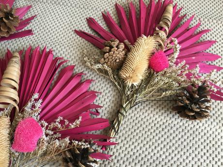 Dekorační suché kytice - na stůl/stěnu,