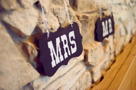 Girlanda Mr. a Mrs. visací,
