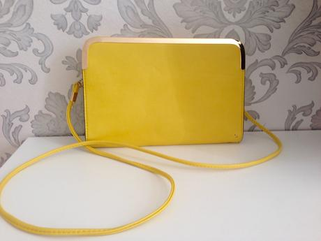 Žltá dámska listová kabelka ,